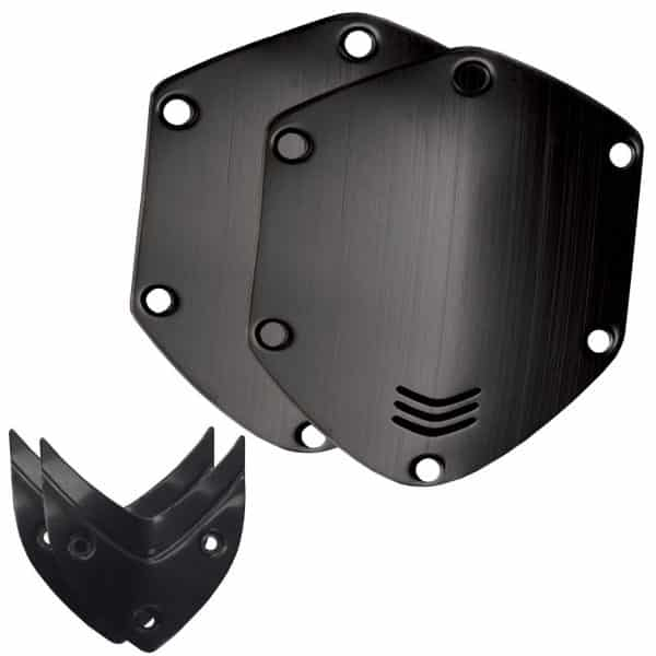 V Moda Brushed Black Shield